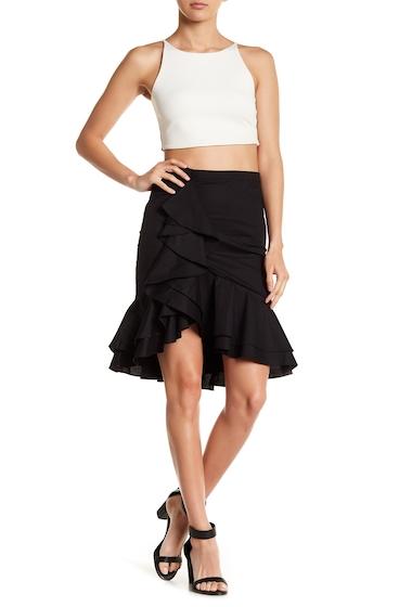 Imbracaminte Femei Socialite Cascade Ruffle Trumpet Skirt BLACK