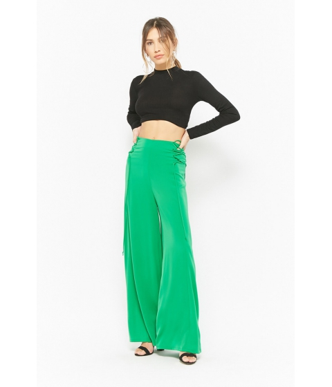 Imbracaminte Femei Forever21 Lace-Up Palazzo Pants GREEN