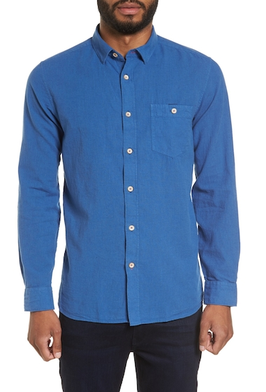 Imbracaminte Barbati Ted Baker London Carwash Modern Slim Fit Sport Shirt BLUE