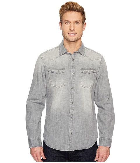 Imbracaminte Barbati Calvin Klein Western Denim Button Down Shirt Flat Gray