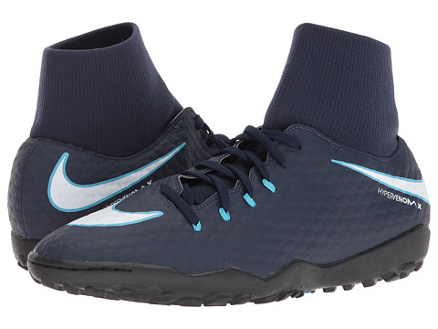 Incaltaminte Barbati Nike HypervenomX Phelon III Dynamic Fit TF ObsidianWhiteGamma BlueGlacier Blue