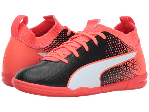 Incaltaminte Fete PUMA Kids evoKnit FTB IT (Little KidBig Kid) Puma BlackPuma WhiteFiery Coral
