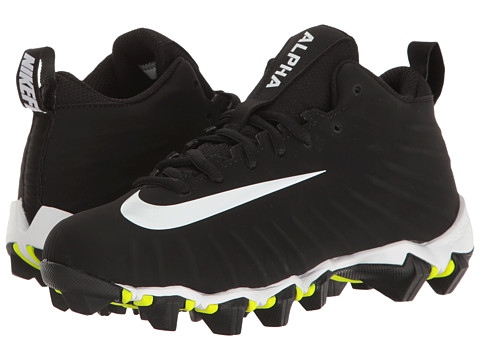 Incaltaminte Baieti Nike Alpha Menace Shark Football Wide (ToddlerLittle KidBig Kid) BlackWhiteWhite