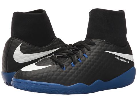Incaltaminte Baieti Nike HypervenomX Phelon III Dynamic Fit IC Soccer Shoe (Little KidBig Kid) BlackWhiteGame Royal