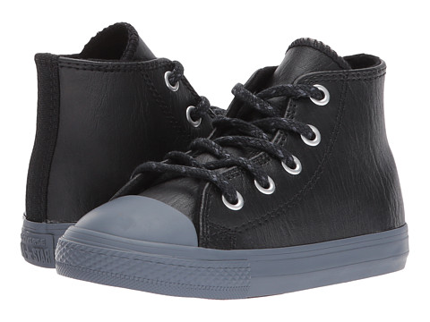 Incaltaminte Baieti Converse Chuck Taylor All Star Leather Thermal - Hi (InfantToddler) BlackBlackSharkskin