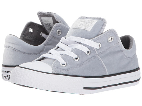 Incaltaminte Fete Converse Chuck Taylor All Star Velvet Madison - Ox (Little KidBig Kid) Wolf GreyMasonWhite