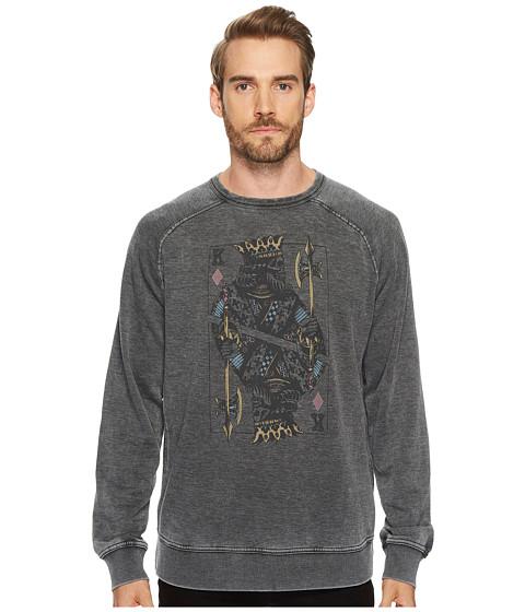 Imbracaminte Barbati Lucky Brand Venice Burnout Sweatshirt Jet Black