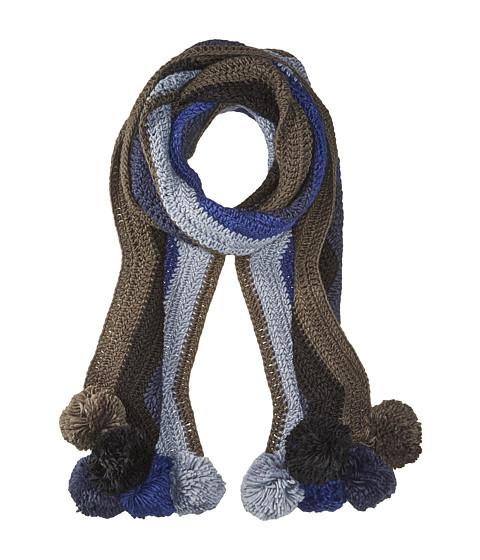 Accesorii Femei BCBGMAXAZRIA Crochet Stripe Pom Muffler Dark Navy