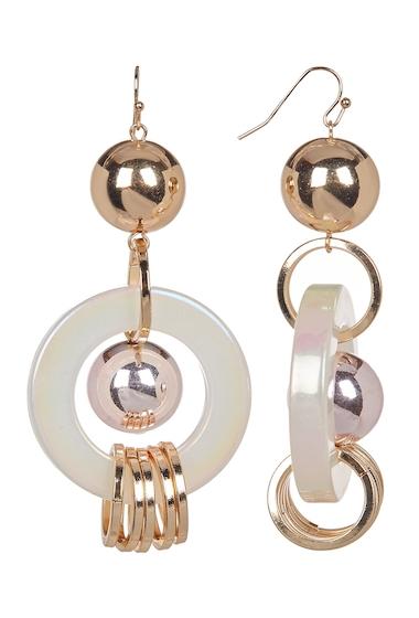 Bijuterii Femei Free Press Sphere Multi Ring Lucite Drop Earrings OPALGOLD