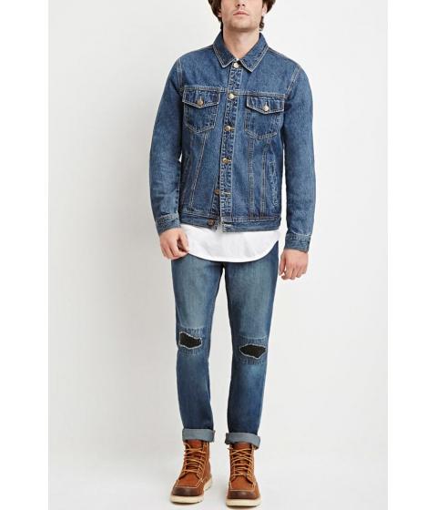 Imbracaminte Barbati Forever21 Distressed Slim-Fit Jeans MEDIUM DENIM