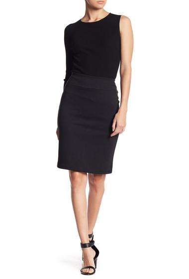 Imbracaminte Femei 14th Union Black Ponte Skirt Regular Petite BLACK