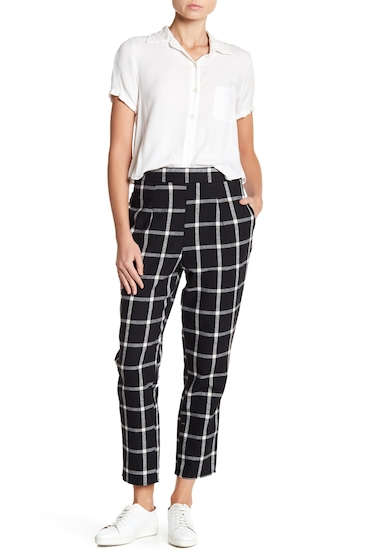 Imbracaminte Femei Abound Tapered Pants BLACK IVORY GRID