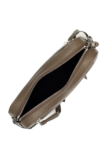 Genti Femei ALLSAINTS Fleur De Lis Leather Crossbody Bag MARINE BLU