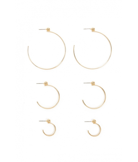 Bijuterii Femei Forever21 Beaded Hoop Earring Set GOLD