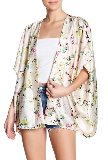 Accesorii Femei Roffe Accessories Satin Oversized Short Kimono LT PINK