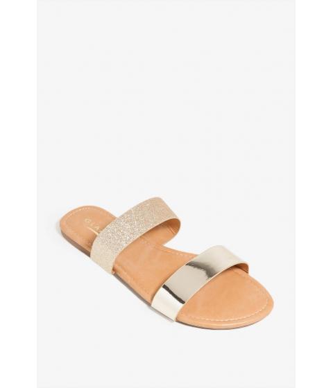 Incaltaminte Femei CheapChic Spring Along Sandal Metallic Gold