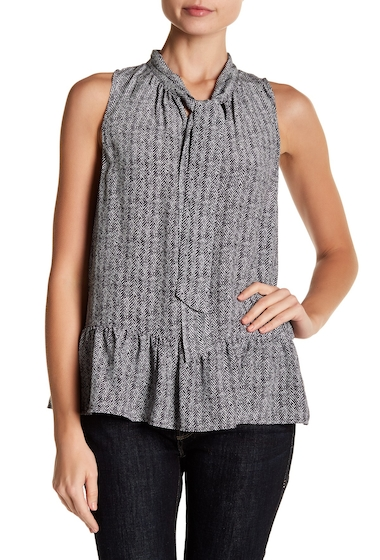 Imbracaminte Femei Joie Estero V-Neck Print Sleeveless Silk Blouse CAVIAR