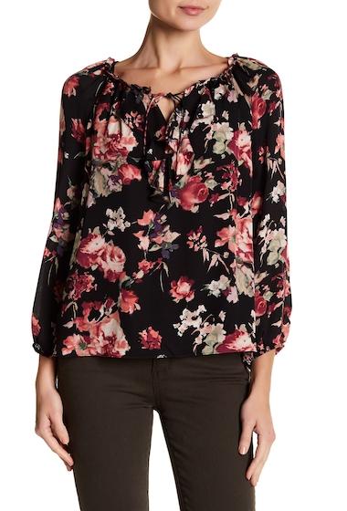 Imbracaminte Femei Joie Nadege Floral Print Silk Blouse CAVIAR