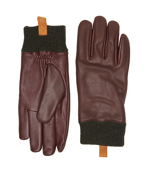 Accesorii Barbati UGG Casual Leather Smart Gloves w Knit Cuff Cordovan