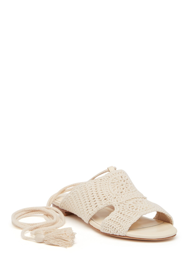 Incaltaminte Femei Joie Fai Ankle Wrap Sandal IVORY
