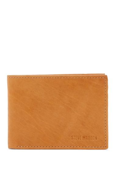 Accesorii Barbati Steve Madden Antique Leather Passcase Wallet TAN