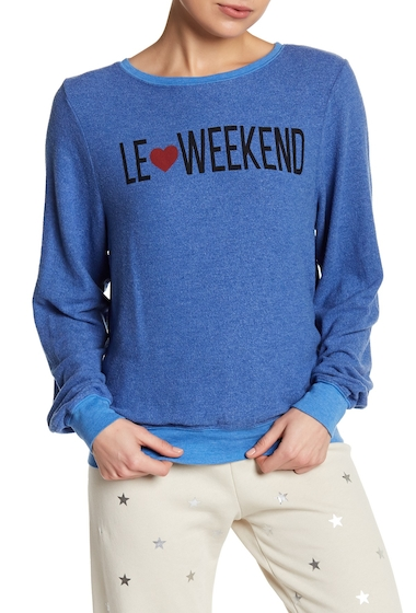 Imbracaminte Femei Wildfox Le Weekend Beach Sweater PISCINE BLUE