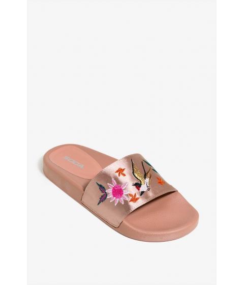 Incaltaminte Femei CheapChic Satin Slide Embroidered Sandal Mauve