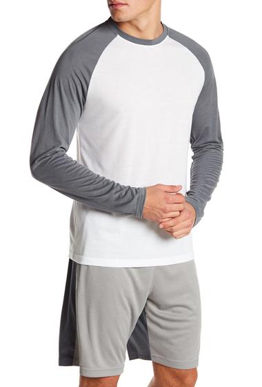 Imbracaminte Barbati Reebok Raglan Long Sleeve Baseball Tee WHITEALLOY S16-R