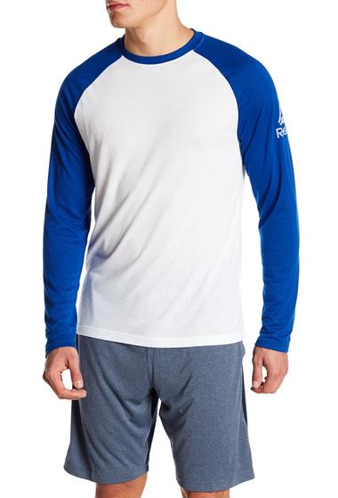 Imbracaminte Barbati Reebok Raglan Long Sleeve Baseball Tee WHITECOLLEGIATE ROYAL