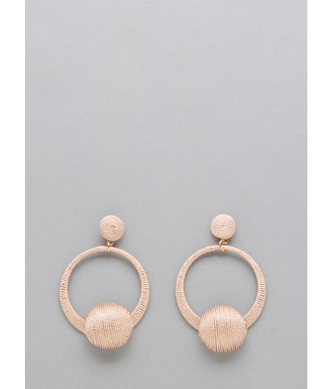 Bijuterii Femei CheapChic Knock Knock Thread-wrapped Earrings Blush