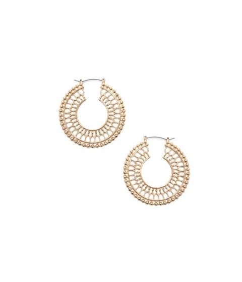 Bijuterii Femei Forever21 Ornate Cutout Hoop Earrings GOLD