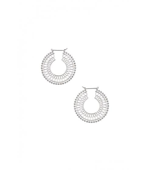 Bijuterii Femei Forever21 Ornate Cutout Hoop Earrings SILVER