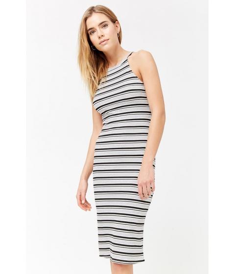 Imbracaminte Femei Forever21 Striped Tank Dress WHITEBLACK