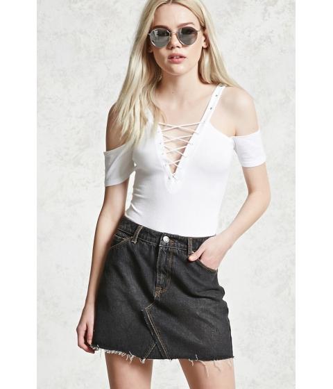 Imbracaminte Femei Forever21 Frayed Denim Skirt CHARCOAL