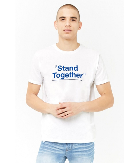 Imbracaminte Barbati Forever21 Stand Together Graphic Tee WHITEROYAL