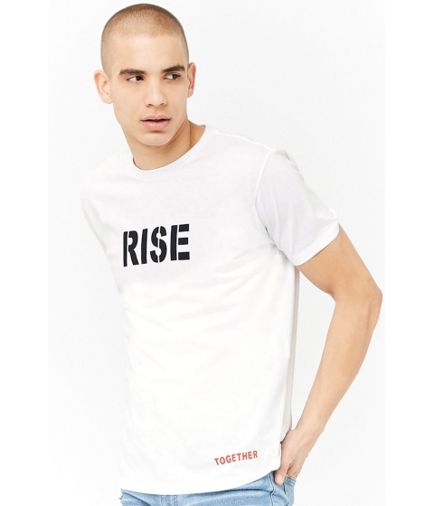 Imbracaminte Barbati Forever21 Rise Together Graphic Tee WHITEBLACK