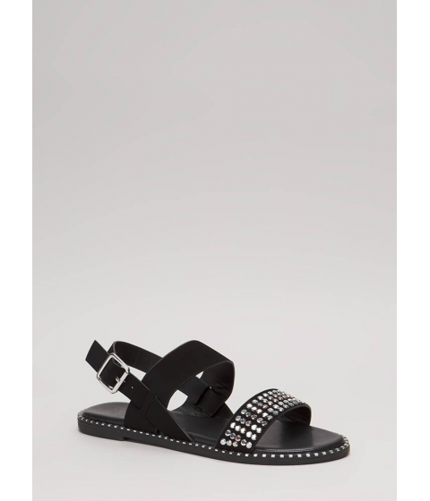 Incaltaminte Femei CheapChic Lead The Way Strappy Studded Sandals Black