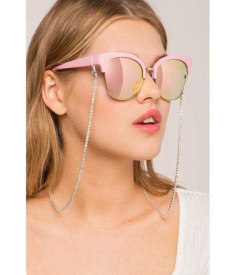 Ochelari Femei CheapChic Single Liner Rhinestone Sunglasses Straps Metallic Silver