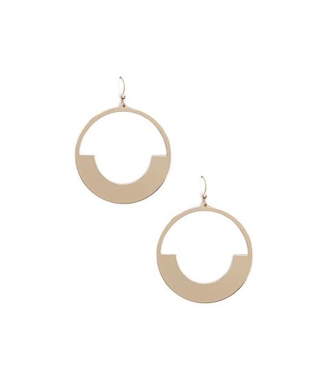 Bijuterii Femei Forever21 Geo Cutout Drop Earrings GOLD