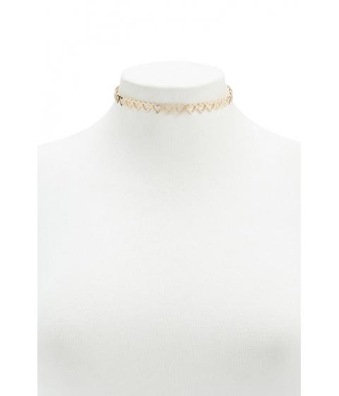 Bijuterii Femei Forever21 Heart Cutout Choker Necklace GOLD