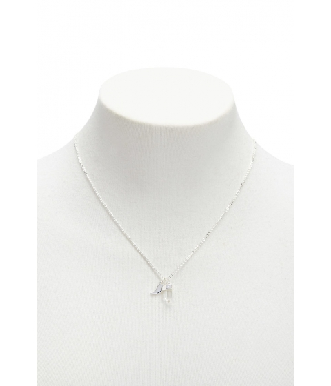 Bijuterii Femei Forever21 Faux Crystal Pendant Necklace SILVERCLEAR