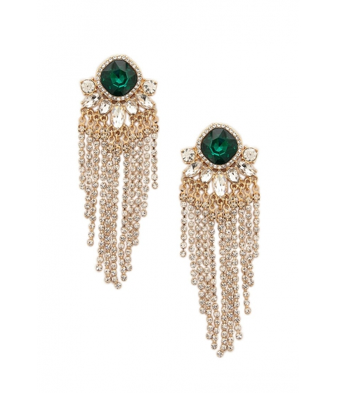 Bijuterii Femei Forever21 Faux Gem Chandelier Earrings GOLDCREAM