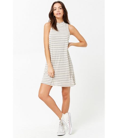 Imbracaminte Femei Forever21 Striped Swing Dress HEATHER GREYNUDE