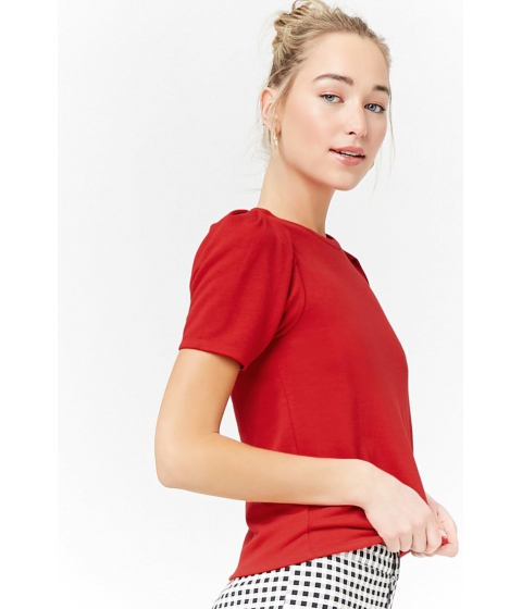 Imbracaminte Femei Forever21 Puff Sleeve Top RED