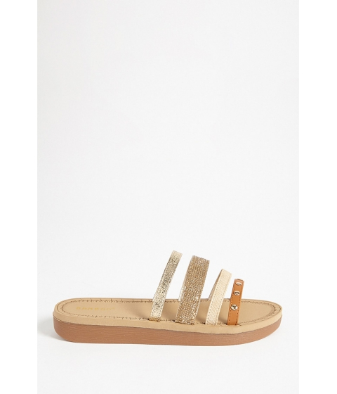 Incaltaminte Femei Forever21 Faux Leather Strappy Sandals TAN