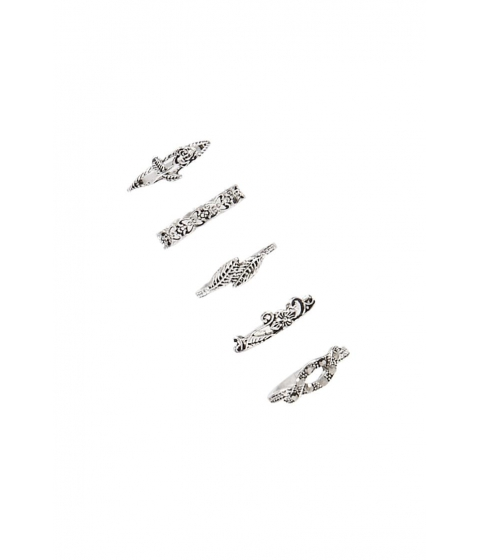 Bijuterii Femei Forever21 Burnished Ring Set ANTIQUE SILVER