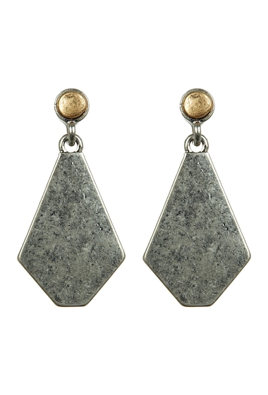 Bijuterii Femei Melrose and Market Two-Tone Geometric Drop Earrings RHODIUMGOLD