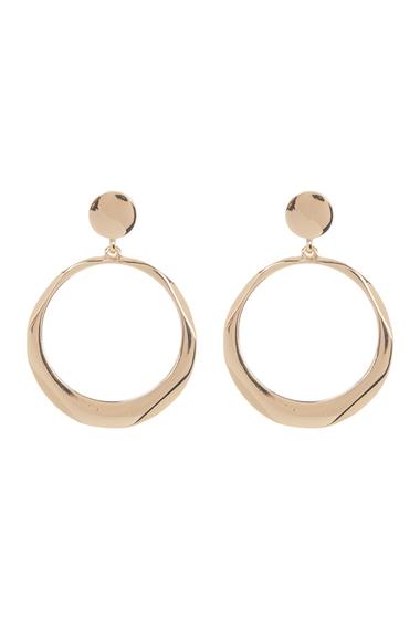 Bijuterii Femei Natasha Accessories Geometric 70mm Hoop Drop Earrings GOLD