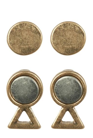 Bijuterii Femei Melrose and Market Two-Tone Stud 2-Piece Earring Set GOLDRHODIUM