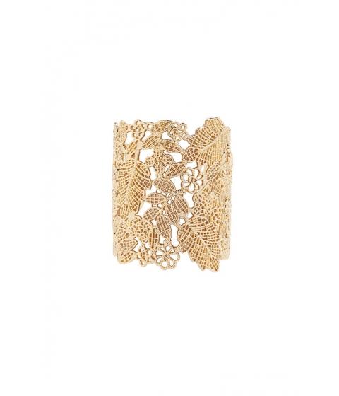 Bijuterii Femei Forever21 Ornate Leaf Cuff Bracelet GOLD